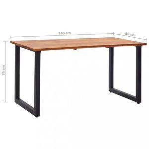 Zahradní stůl hnědá / černá Dekorhome 140x80x75 cm