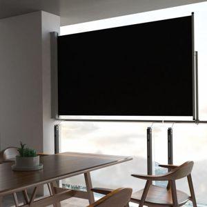 Zatahovací boční markýza 140x300 cm Dekorhome Černá