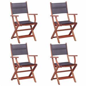 Zahradní židle 4 ks eukalyptové dřevo Dekorhome Šedá