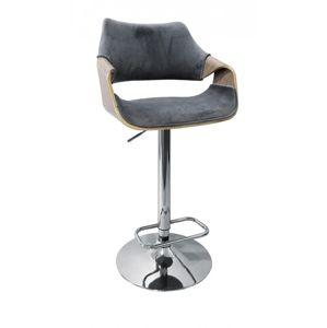 Barová židle H-98 dub světlý / šedá Halmar