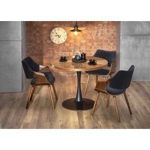 Jídelní stůl CARMELO 100 cm ořech / černá Halmar