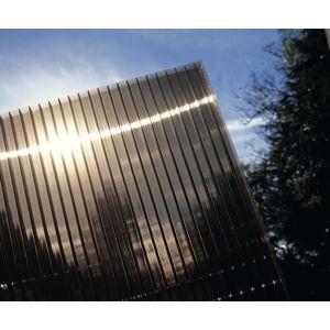 Hliníková pergola 4,95 x 3 m antracit / polykarbonát Dekorhome Kouřově hnědá (bronz)