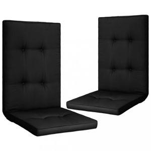 Voděodolné podušky na zahradní židle 2 ks Dekorhome Černá