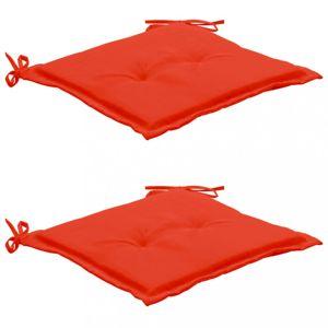 Podušky na zahradní židle 2 ks Dekorhome Červená