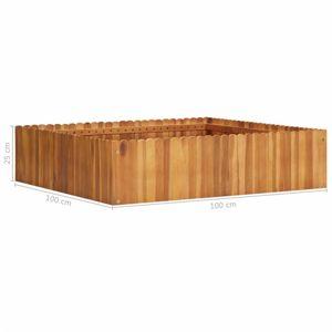 Zahradní truhlík akáciové dřevo Dekorhome 100x100x25 cm