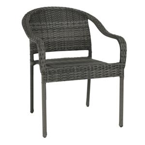 Zahradní židle BINGA polyratan Tempo Kondela Šedá