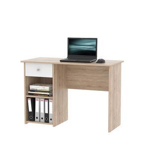 Počítačový stůl KARLIS dub sonoma / bílá Tempo Kondela