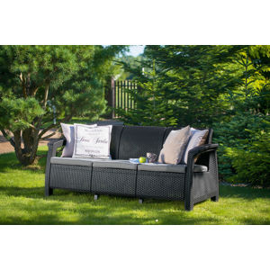 CORFU LOVE SEAT MAX - antracit Allibert