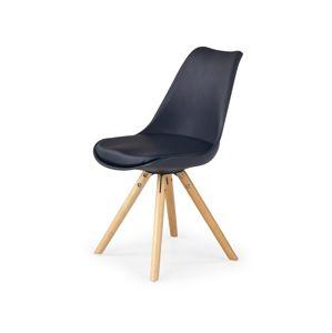 Jídelní židle K201 Halmar Černá