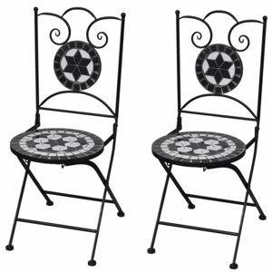 Zahradní skládací židle 2 ks Černá
