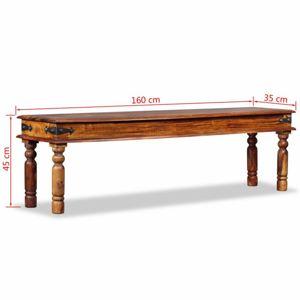 Starožitná lavice hnědá Dekorhome 160 cm
